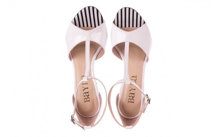 Sandały bayla-097 08 biało-czerwone sandały, skóra naturalna lakierowana  - kolekcja ślubna - trendy - kobieta 4