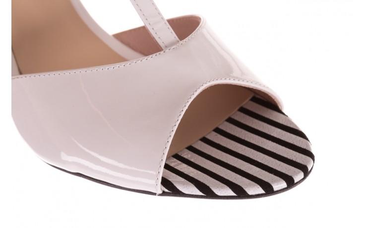 Sandały bayla-097 08 biało-czerwone sandały, skóra naturalna lakierowana  - kolekcja ślubna - trendy - kobieta 5