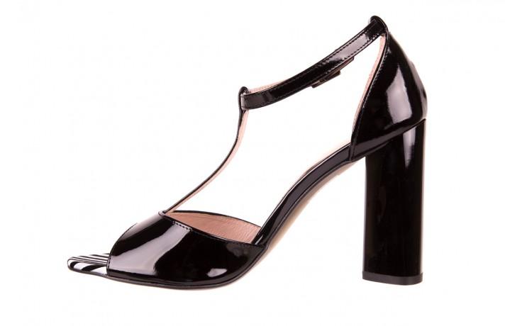 Sandały bayla-097 08 czarno - białe sandały, skóra naturalna lakierowana  - bayla - nasze marki 2