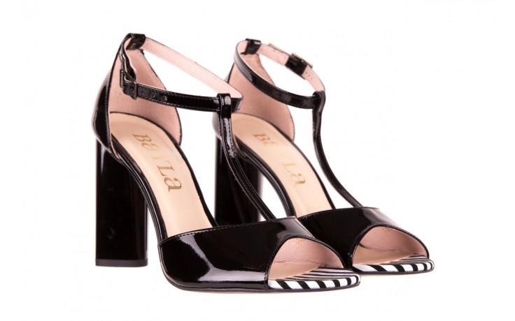 Sandały bayla-097 08 czarno - białe sandały, skóra naturalna lakierowana  - bayla - nasze marki 1
