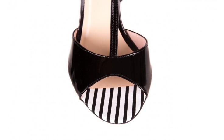 Sandały bayla-097 08 czarno - białe sandały, skóra naturalna lakierowana  - bayla - nasze marki 5