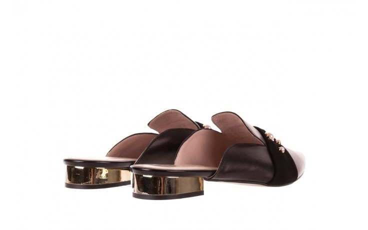 Klapki bayla-097 10 czarne klapki z perłami, skóra naturalna  - bayla - nasze marki 3