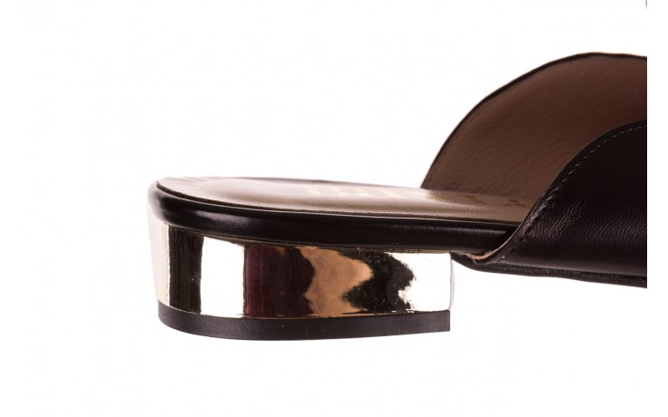 Klapki bayla-097 10 czarne klapki z perłami, skóra naturalna  - mokasyny i lordsy - półbuty - buty damskie - kobieta 6