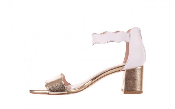 Sandały bayla-097 12 biało-złote sandały, skora naturalna  - kolekcja ślubna - trendy - kobieta 2