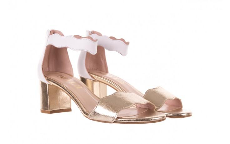 Sandały bayla-097 12 biało-złote sandały, skora naturalna  - kolekcja ślubna - trendy - kobieta 1