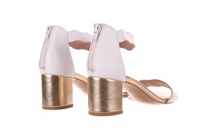 Sandały bayla-097 12 biało-złote sandały, skora naturalna  - kolekcja ślubna - trendy - kobieta 3
