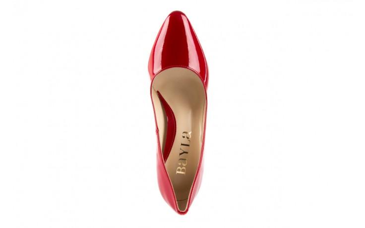 Czółenka bayla-097 l6879-733 czerwony, skóra naturalna lakierowana - bayla - nasze marki 4