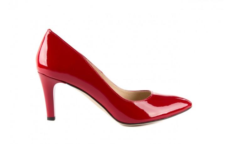 Czółenka bayla-097 l6879-733 czerwony, skóra naturalna lakierowana - bayla - nasze marki