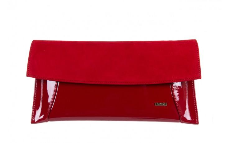 Bayla-097 torebka koperta sandra czerwona-zamsz - bayla - nasze marki