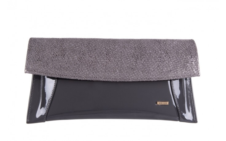 Bayla-097 torebka koperta sandra szara-metalic - bayla - nasze marki