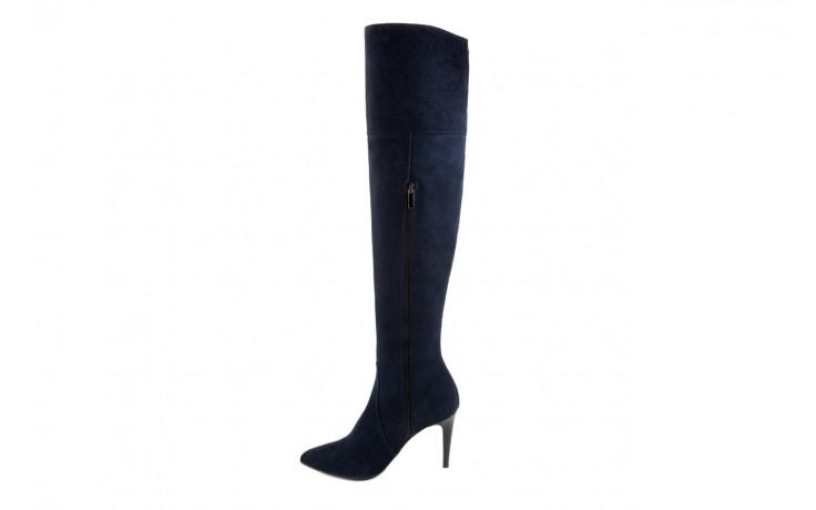 Kozaki bayla-097 w2418-221 granat, skóra naturalna - za kolano / muszkieterki - kozaki - buty damskie - kobieta 2