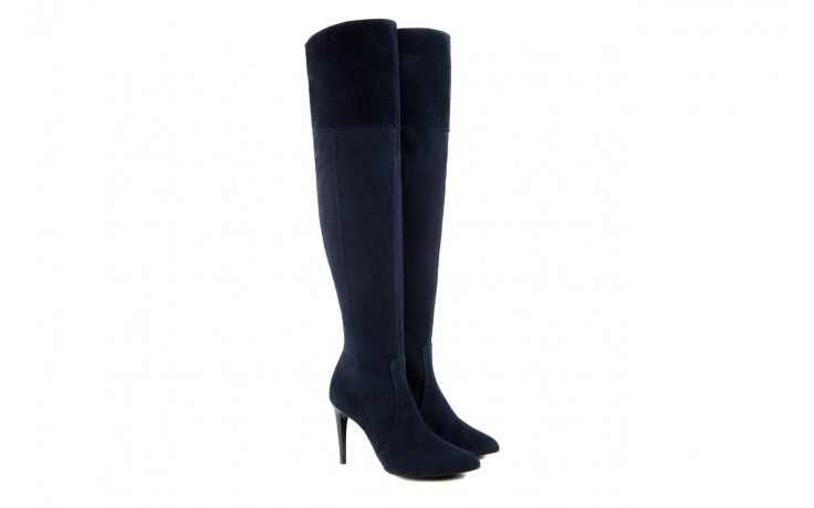 Kozaki bayla-097 w2418-221 granat, skóra naturalna - za kolano / muszkieterki - kozaki - buty damskie - kobieta 1