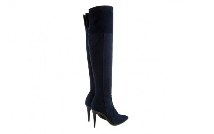 Kozaki bayla-097 w2418-221 granat, skóra naturalna - za kolano / muszkieterki - kozaki - buty damskie - kobieta 3