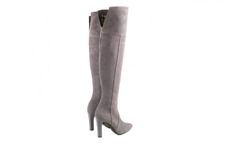 Kozaki bayla-097 w2418-494 szary, skóra naturalna - za kolano / muszkieterki - kozaki - buty damskie - kobieta 3