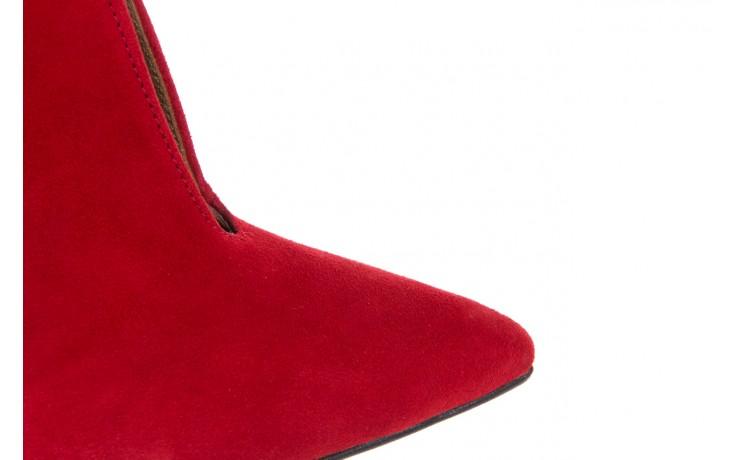 Botki bayla-097 z7011-322 czerwony, skóra naturalna - na szpilce - botki - buty damskie - kobieta 5