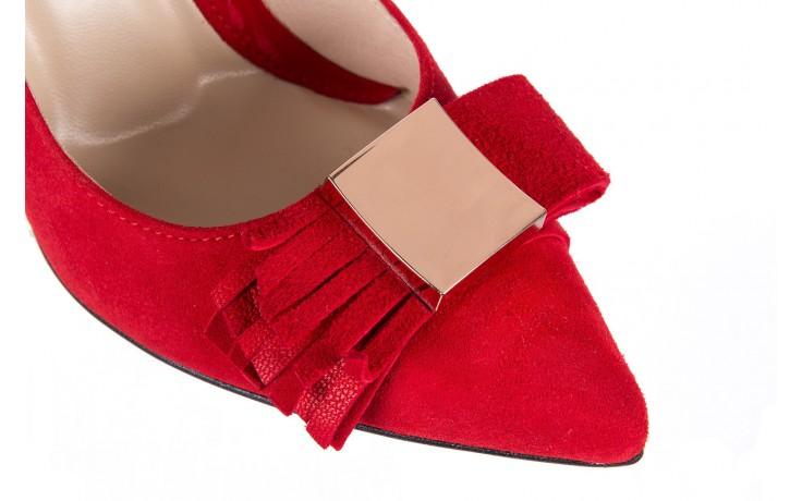 Czółenka bayla-097 z7135-322 czerwony, skóra naturalna  - zamszowe - szpilki - buty damskie - kobieta 5