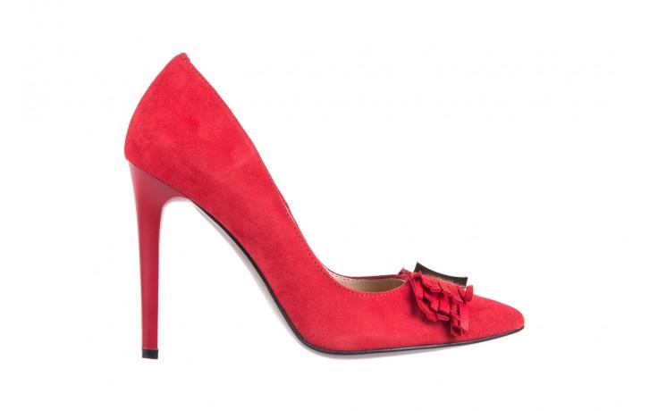 Czółenka bayla-097 z7135-322 czerwony, skóra naturalna  - zamszowe - szpilki - buty damskie - kobieta