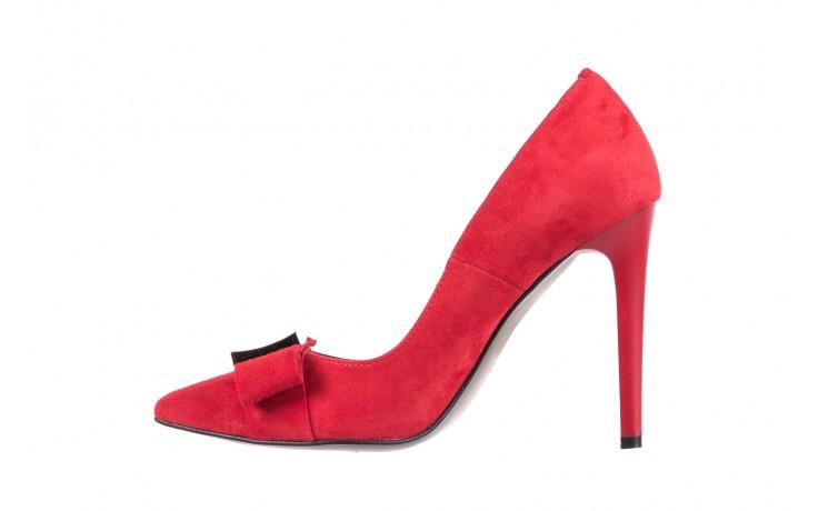 Czółenka bayla-097 z7135-322 czerwony, skóra naturalna  - zamszowe - szpilki - buty damskie - kobieta 2