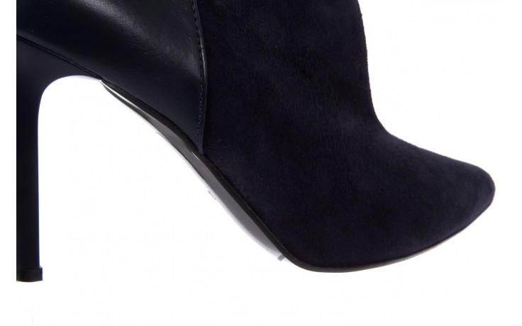 Botki bayla-097 zs7010-221 granat, skóra naturalna - na szpilce - botki - buty damskie - kobieta 5