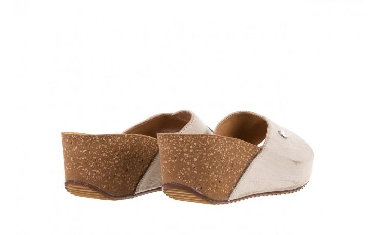 Klapki bayla-099 0795 dave platyna, skóra naturalna  - na koturnie - klapki - buty damskie - kobieta 3