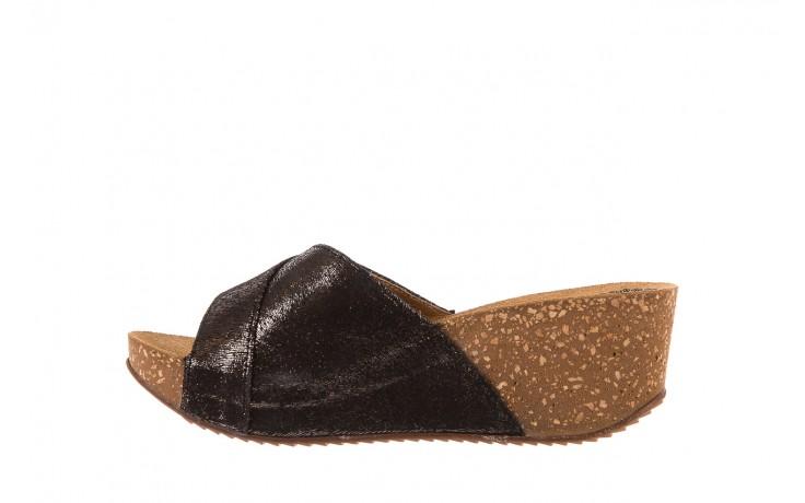 Klapki bayla-099 0795 włosy, czarny, skóra naturalna - koturny - dla niej  - sale 2