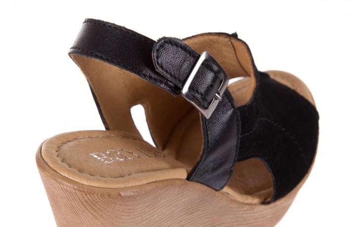 Sandały bayla-100 392s czarny wel, skóra naturalna  - bayla - nasze marki 5