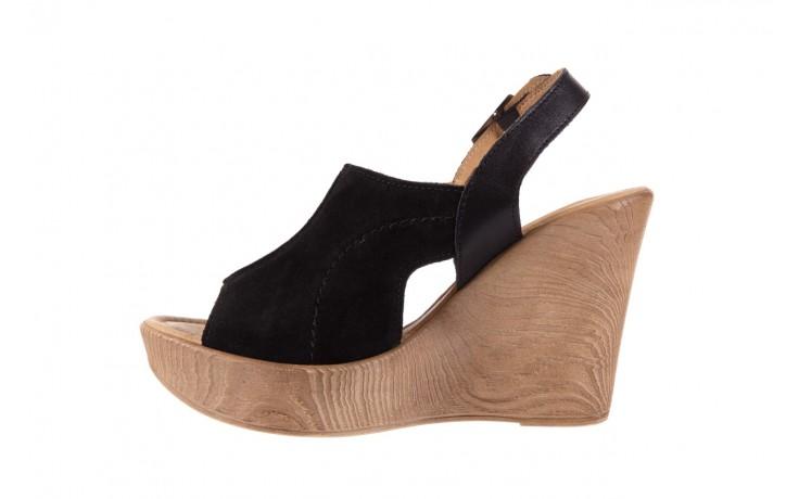 Sandały bayla-100 392s czarny wel, skóra naturalna  - bayla - nasze marki 2