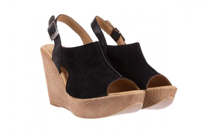 Sandały bayla-100 392s czarny wel, skóra naturalna  - bayla - nasze marki 1