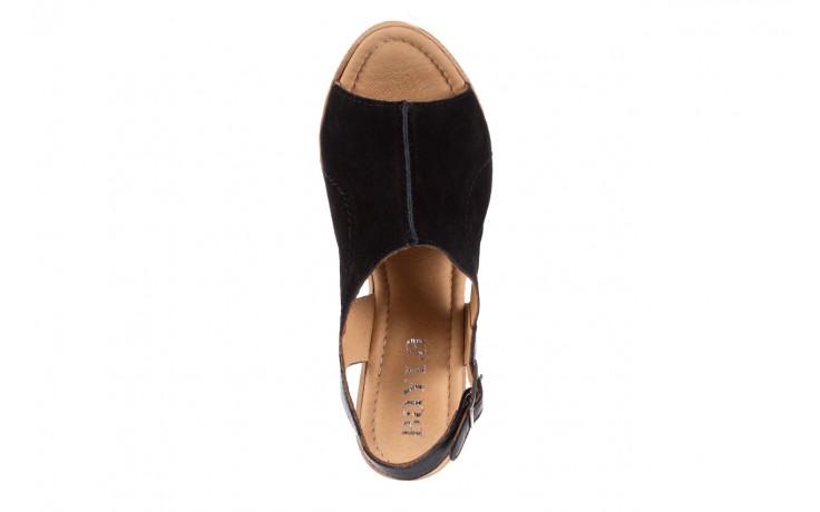 Sandały bayla-100 392s czarny wel, skóra naturalna  - bayla - nasze marki 4