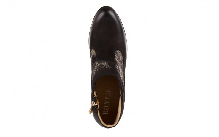 Botki bayla-100 413s czarny złoty, skóra naturalna - na platformie - botki - buty damskie - kobieta 4