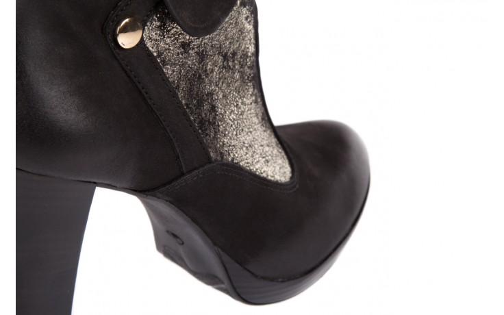 Botki bayla-100 413s czarny złoty, skóra naturalna - na platformie - botki - buty damskie - kobieta 5