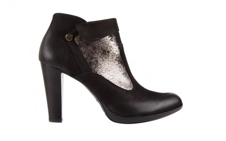 Botki bayla-100 413s czarny złoty, skóra naturalna - na platformie - botki - buty damskie - kobieta