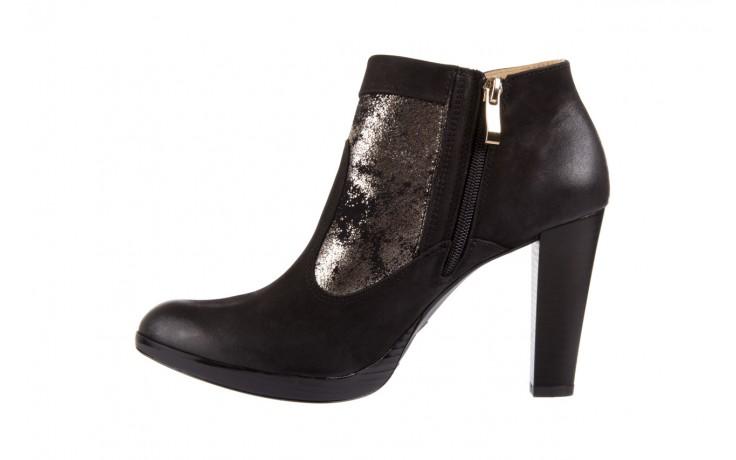 Botki bayla-100 413s czarny złoty, skóra naturalna - na platformie - botki - buty damskie - kobieta 2