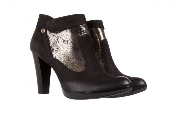 Botki bayla-100 413s czarny złoty, skóra naturalna - na platformie - botki - buty damskie - kobieta 1