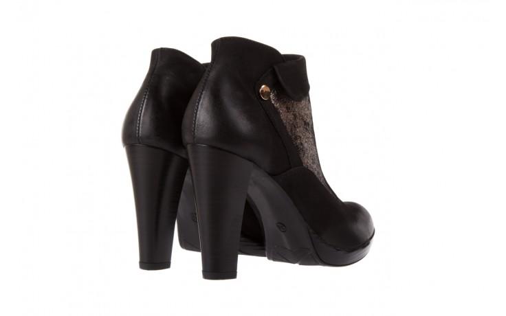 Botki bayla-100 413s czarny złoty, skóra naturalna - na platformie - botki - buty damskie - kobieta 3