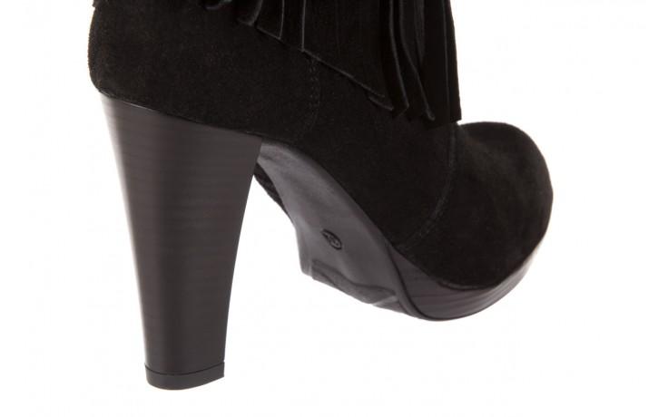 Botki bayla-100 442s czarny welur, skóra naturalna - na platformie - botki - buty damskie - kobieta 5