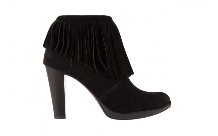 Botki bayla-100 442s czarny welur, skóra naturalna - na platformie - botki - buty damskie - kobieta