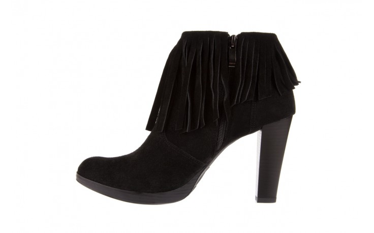 Botki bayla-100 442s czarny welur, skóra naturalna - na platformie - botki - buty damskie - kobieta 2