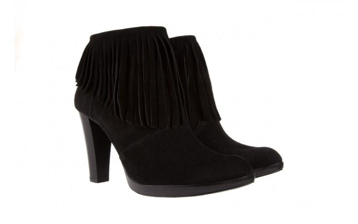 Botki bayla-100 442s czarny welur, skóra naturalna - na platformie - botki - buty damskie - kobieta 1