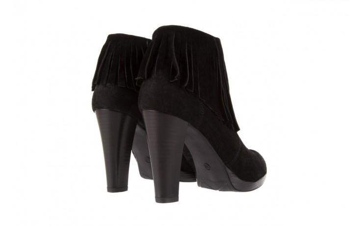 Botki bayla-100 442s czarny welur, skóra naturalna - na platformie - botki - buty damskie - kobieta 3