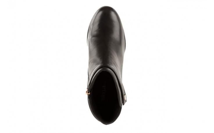 Botki bayla-106 321108 black, czarny, skóra naturalna/materiał - na koturnie - botki - buty damskie - kobieta 4