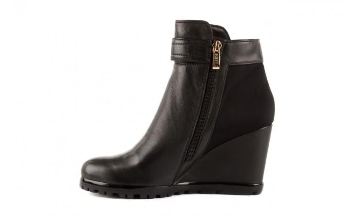 Botki bayla-106 321108 black, czarny, skóra naturalna/materiał - na koturnie - botki - buty damskie - kobieta 2