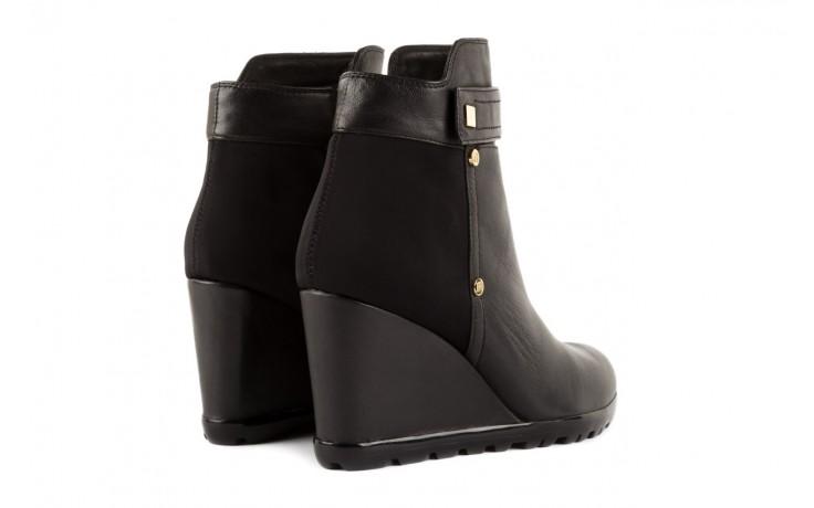Botki bayla-106 321108 black, czarny, skóra naturalna/materiał - na koturnie - botki - buty damskie - kobieta 3
