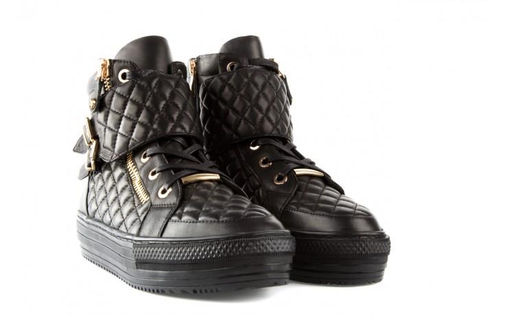 Trampki bayla-106 4208002 black, czarny, skóra naturalna - bayla - nasze marki 1