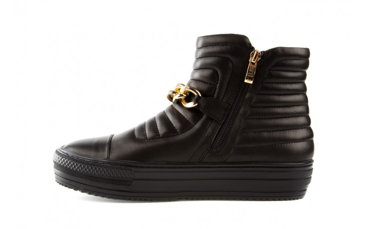 Trampki bayla-106 4208004 black, czarny, skóra naturalna - na platformie - botki - buty damskie - kobieta 2
