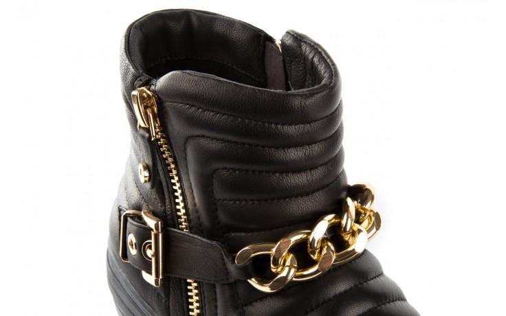 Trampki bayla-106 4208004 black, czarny, skóra naturalna - na platformie - botki - buty damskie - kobieta 5