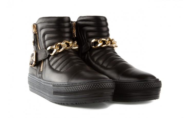 Trampki bayla-106 4208004 black, czarny, skóra naturalna - na platformie - botki - buty damskie - kobieta 1