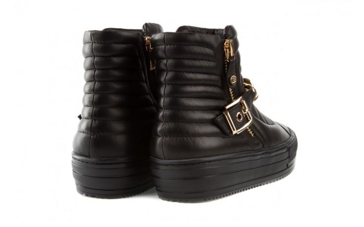 Trampki bayla-106 4208004 black, czarny, skóra naturalna - na platformie - botki - buty damskie - kobieta 3