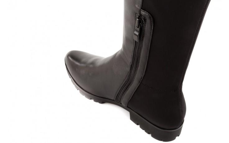 Kozaki bayla-106 4225009 black, czarny, skóra naturalna/materiał - za kolano / muszkieterki - kozaki - buty damskie - kobieta 4