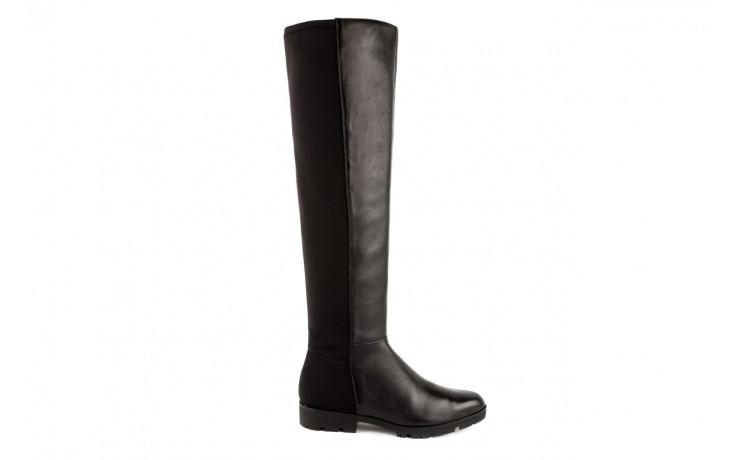 Kozaki bayla-106 4225009 black, czarny, skóra naturalna/materiał - za kolano / muszkieterki - kozaki - buty damskie - kobieta